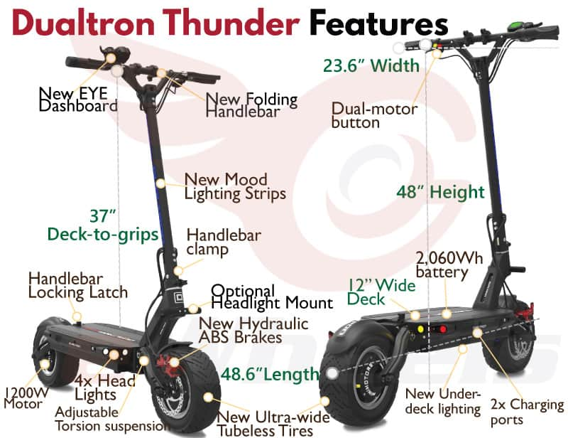 dualtron thunder electric scooter features minimotors