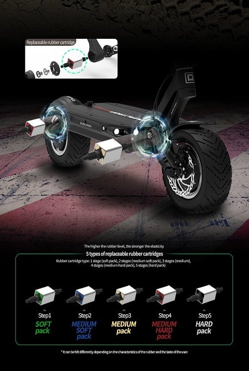 dualtron electric scooter suspension cartridge rubber