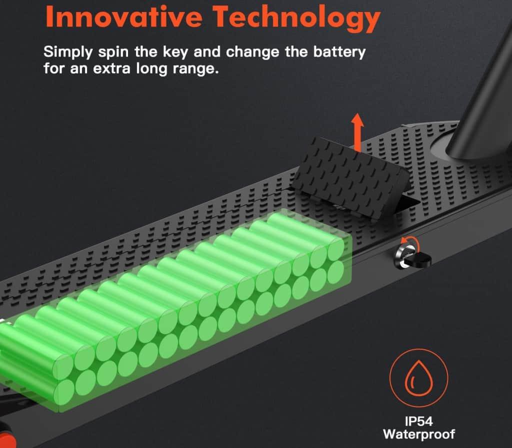 hiboy S2R review detachable battery